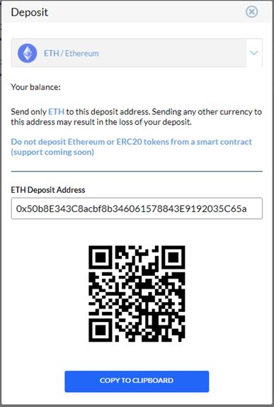 coinlion crypto deposit modal