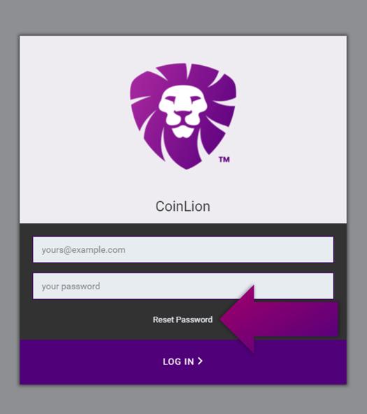coinlion reset password